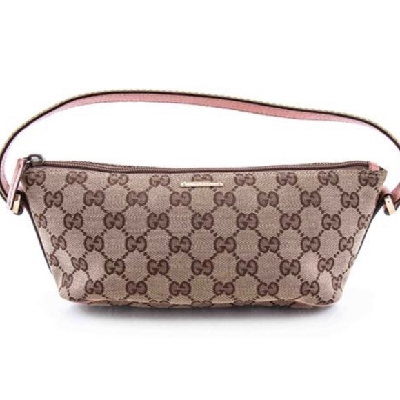 85a44573d03 Gucci Handbags - GUCCI Gg Monogram Pink Pochette Canvas Bag